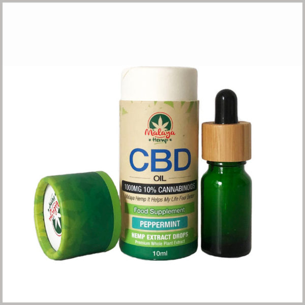 10ml CBD essential oil cardboard packaging tubes,The packaging materials we choose can be free of abnormal odors and will not interfere with the odor of the essential oil itself.