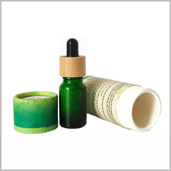 10ml CBD essential oil packaging tubes boxes, Detailed essential oil information is printed on the surface of the paper tube, and customers can quickly understand the product.