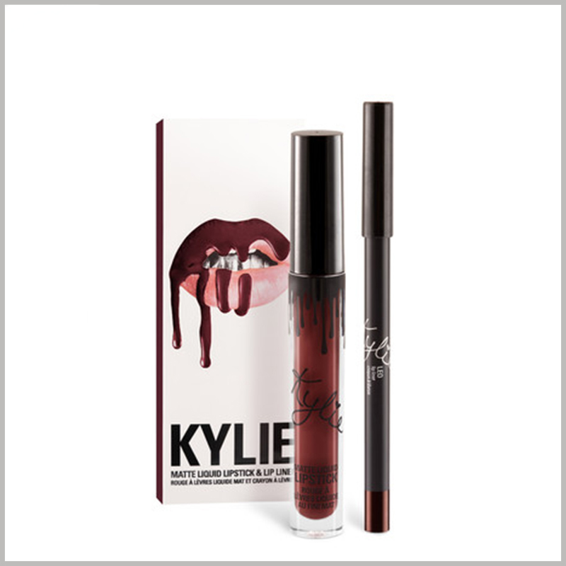 Foldable kylie jenner lipstick packaging boxes with ideas.The unique packaging design will greatly promote the product sales of the enterprise.