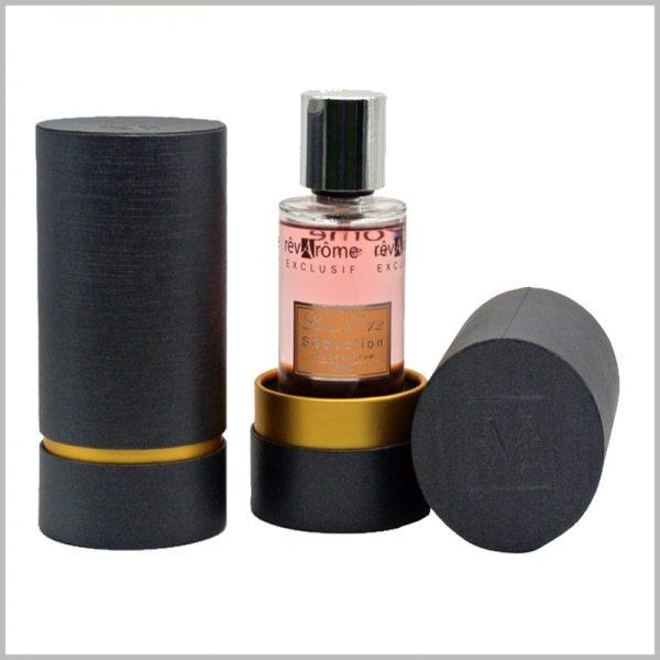 custom black cardboard perfume boxes packaging with logo wholesale