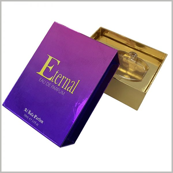custom luxury empty gift boxes for perfume packaging.Choose this perfume package as a reference to improve package design and sales