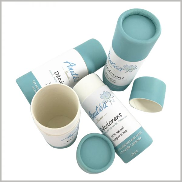 30ml deodorant cardboard push up tube packaging. The bottom of the deodorant tube packaging is very thick, bears heavy weight, and is durable.