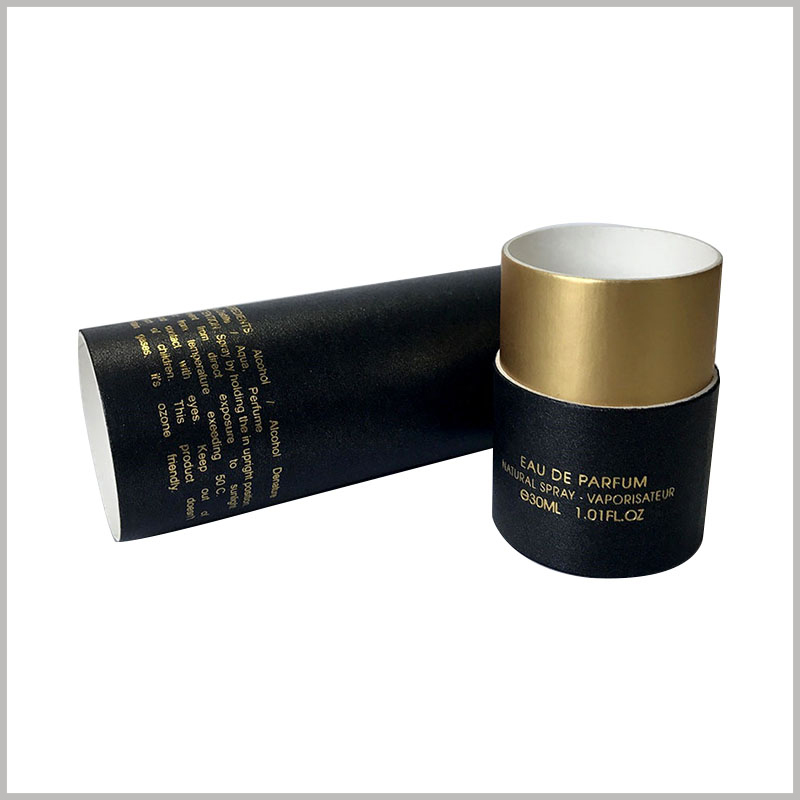 30ml perfume packaging boxes wholesale.The detailed text description of the perfume is embodied in bronzing printing, which makes it easier for customers to understand the characteristics of the perfume.