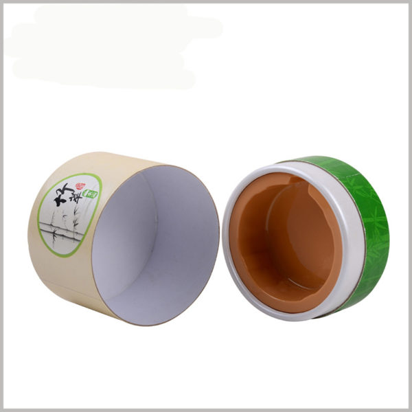 50g baby skin care products packaging with insert. An insert inside the paper tube holds the vial of skincare.