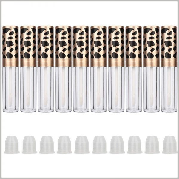 5ml lip gloss tube bottle with Leopard Print