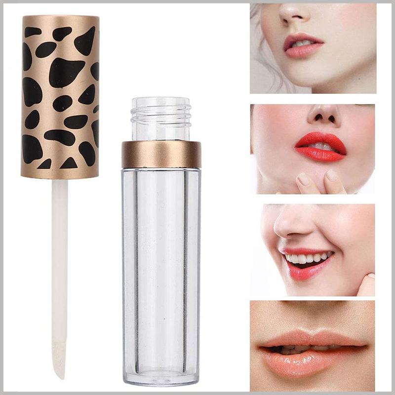 5ml lip gloss tube with Leopard Print