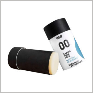 75g peppermint deodorant packaging boxes with printing.Biodegradable paper tubes are popular as deodorant packaging and are environmentally friendly packaging.