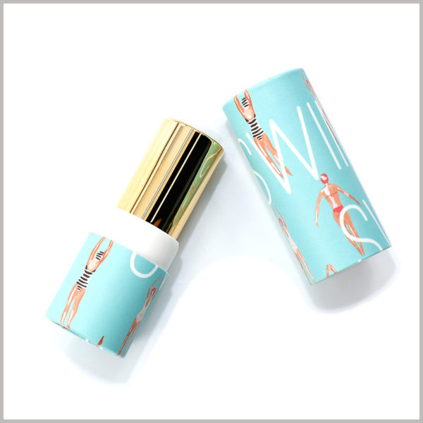 Biodegradable paper lipstick tube packaging,The packaging of this lipstick tube mainly caters to girls who love cartoons and anime.