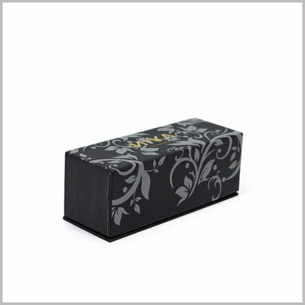 Black small cardboard cosmetic boxes packaging wholesale. The small makeup boxes have a unique visual design and can stand out among many nail polish brands.