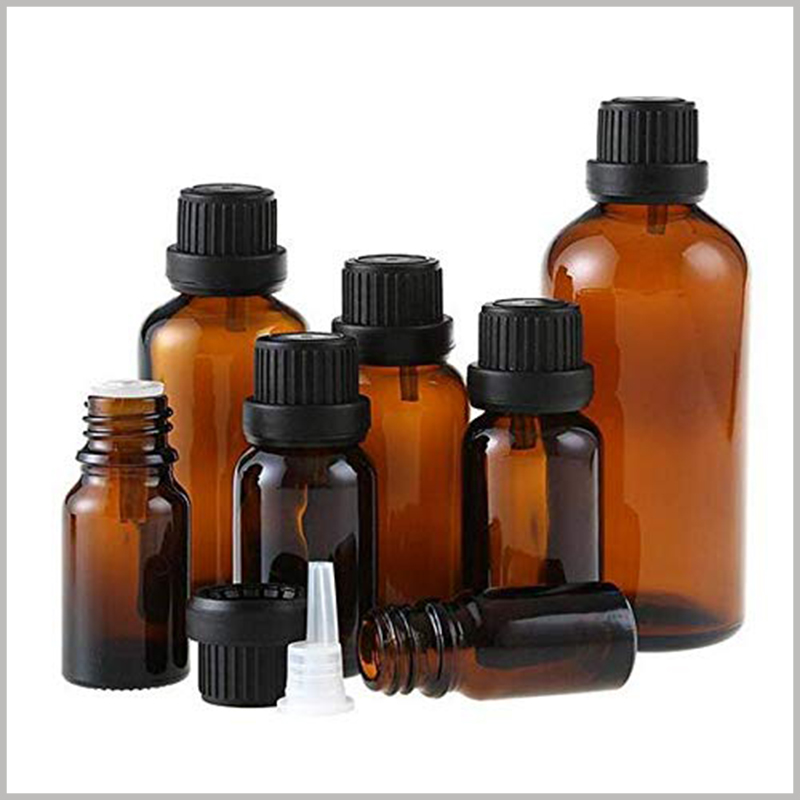 Brown Essential Oil Bottles With Orifice and Cap