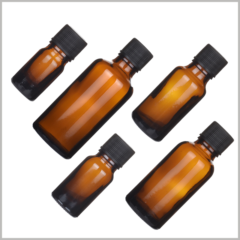 Brown Glass Essential Oil Bottles With Orifice and Cap