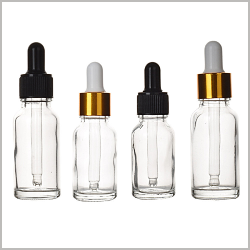 Clear Essential Oils Glass Bottles with Eye Droppers wholesale