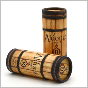 """Creative Imitation wood tube packaging for 30ml essential oil boxes. The packaging style is like a cylindrical """"wood"""", which belongs to the classic packaging design type. The essential oil packaging is unique and attractive."""