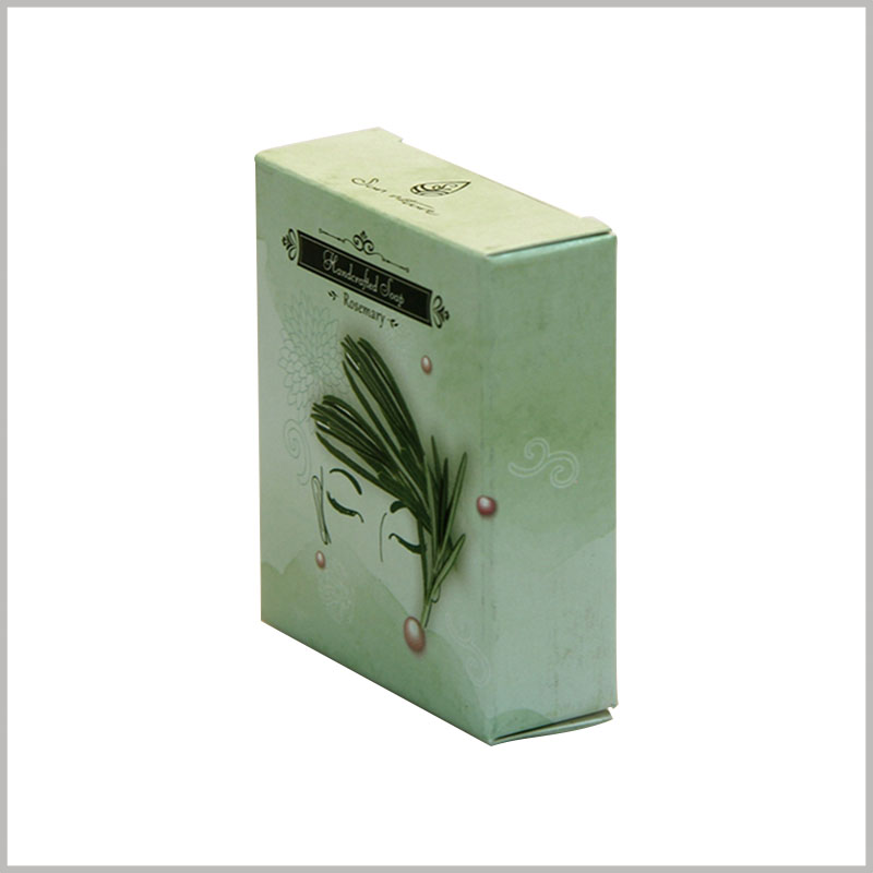 Custom Creative boxes for soap packaging design. The creative small package is used to hold a single soap and is attractive enough for product promotion.