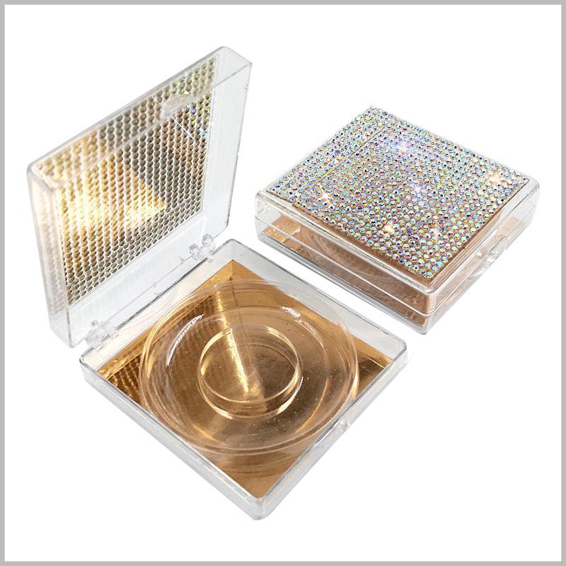 Custom False eyelashes packaging with crystal decoration