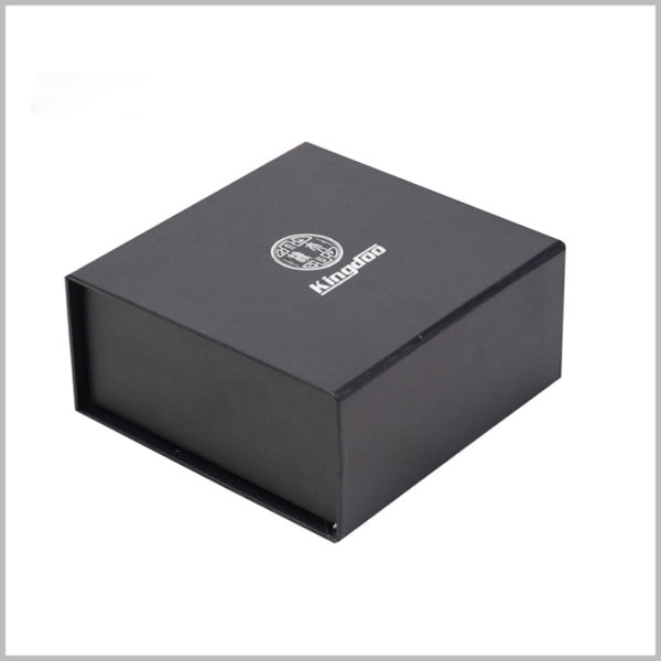 Custom black small cardboard boxes for perfume packaging,Square cardboard boxes with printed content such as brand logo