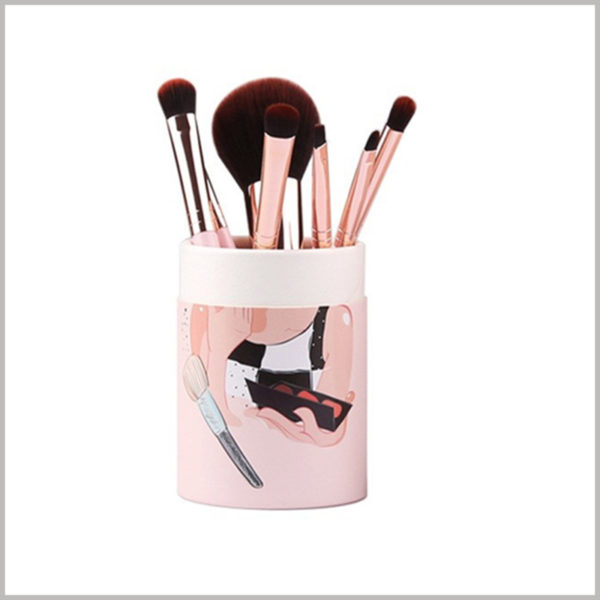Custom cardboard round tubes for makeup brush packaging