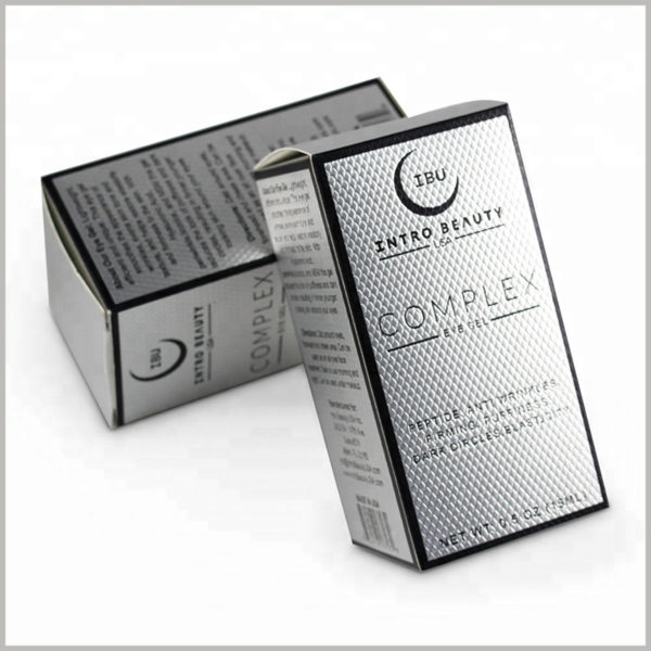 Custom skincare packaging for 15ml eye gel cream boxes. By customizing the printed content of the package, customers can quickly understand the product and make a purchase decision.