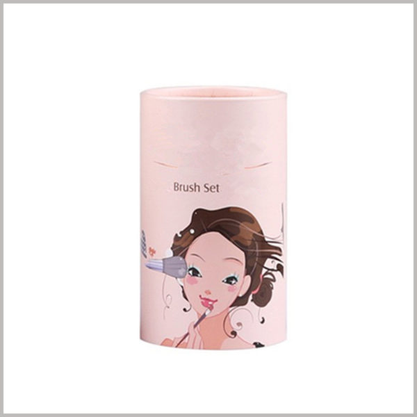 Cute cardboard round tubes for makeup brush packaging