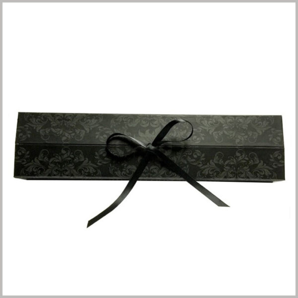 Exquisite cardboard gift packaging for hair extension boxes.With the help of gift bows in printed packaging, wigs will be valued and their value will be fully reflected.