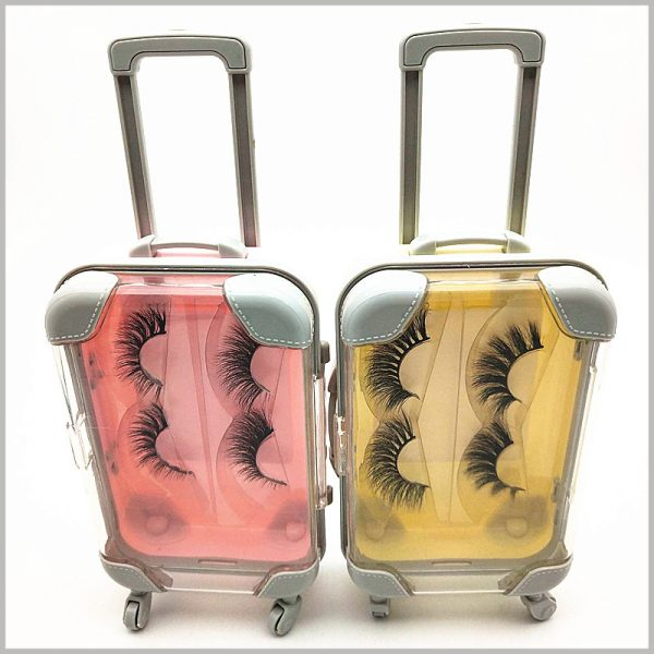 Eyelash packaging box travel case style for two pairs