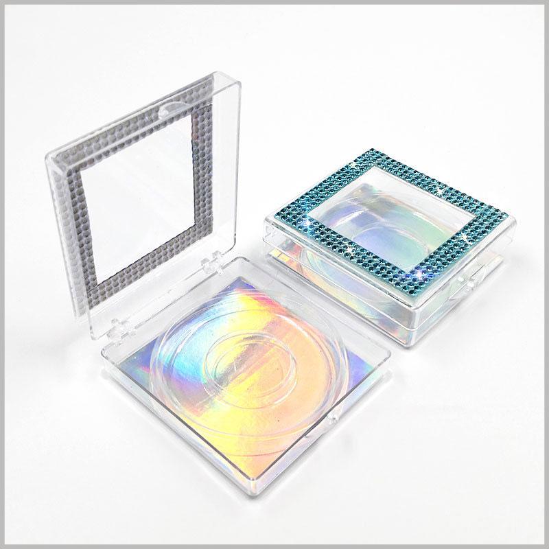False eyelash packaging with crystal wholesale