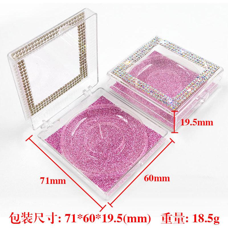 False eyelashes packaging with crystal decoration