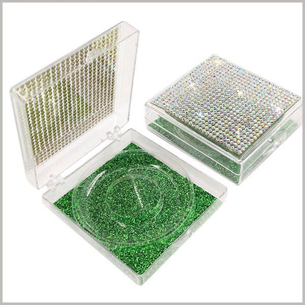 False eyelashes packaging with decoration
