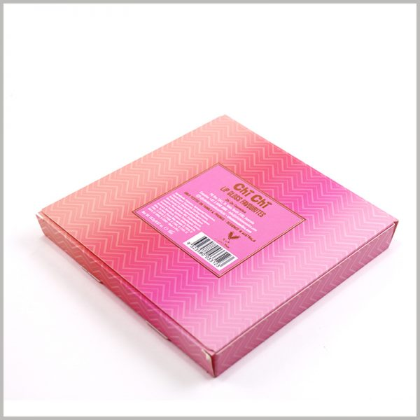 Foldable Cosmetic Lip Gloss packaging Boxes. The detailed product information and barcode are printed on the back of the package, and customers will be able to understand the product faster.