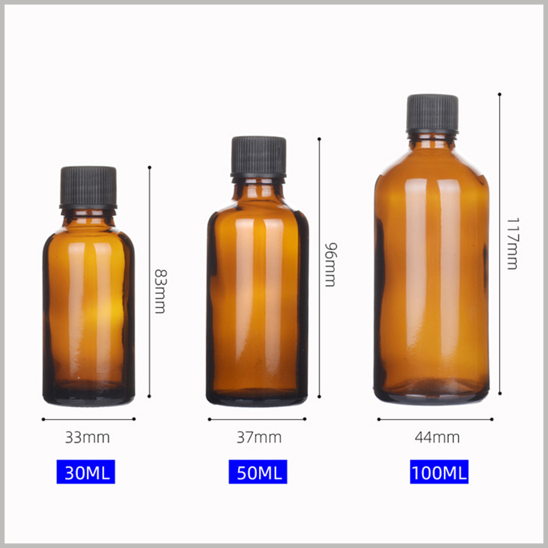 Glass Essential Oil Bottles With Cap