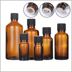 Glass Essential Oil Bottles With Orifice and Cap