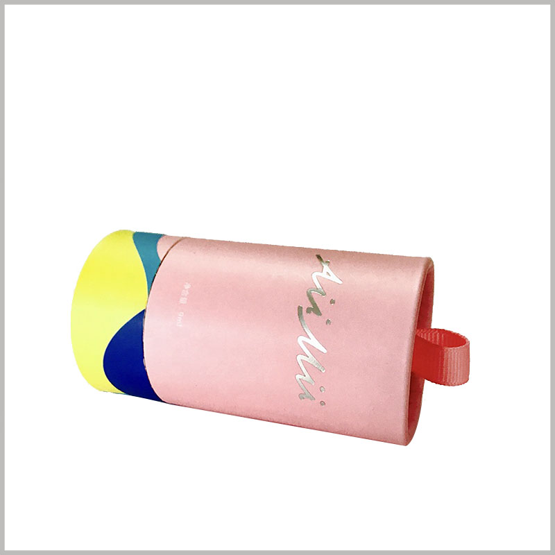 Cute nail polish packaging boxes, The small paper tube packaging structure has a good visual experience.
