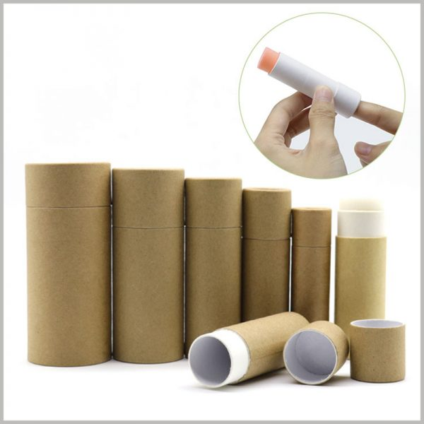 Kraft Paper push up tubes for deodorant packaging. Kraft paper tube packaging has an artistic visual experience and has a wide range of uses.