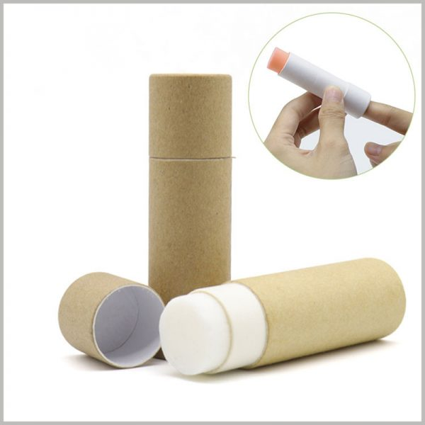 Kraft Paper push up tubes packaging for deodorant. As the raw material of deodorant packaging, kraft paper is biodegradable and compostable, which improves the environmental protection of packaging.