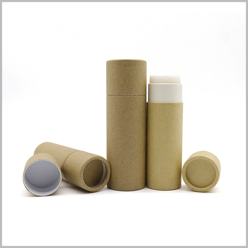 Kraft Paper tubes for deodorant packaging. Printing unique content on customized tube packaging will improve the promotional effect of the packaging.