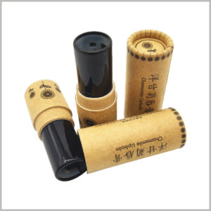 Kraft paper empty lipstick tube wholesale. Lipstick plastic inner tube is black, very rare, but we can provide you with this type of lipstick plastic inner tube.