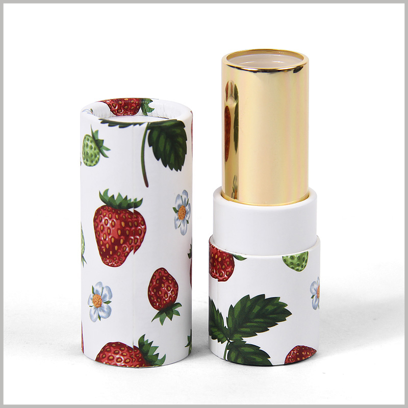 Printed cardboard tubes for lipstick packaging boxes. The lipstick product can be directly filled into the empty lipstick tube, which is easy for product assembly.