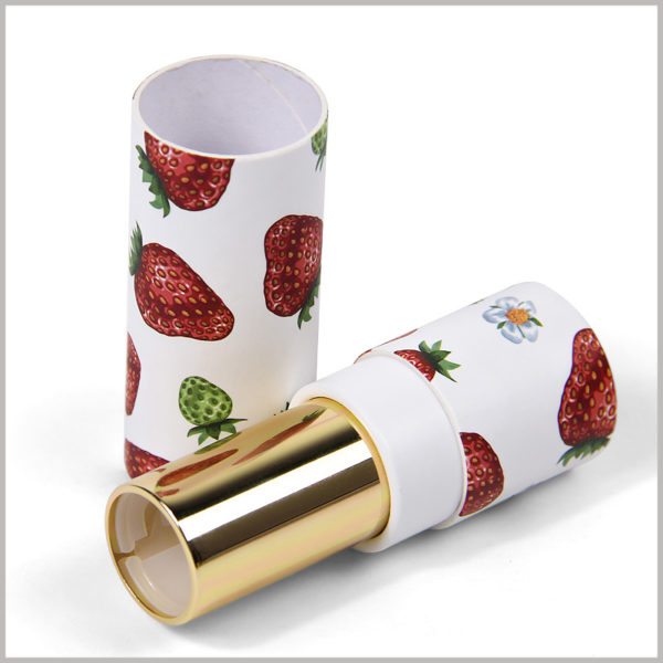 Printed paper tubes for lipstick packaging boxes. Custom tube packaging is used for lipstick products, and the characteristics of lipstick are reflected by printed patterns.