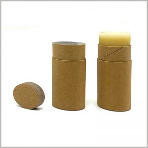 Recyclable Oval deodorant packaging. The cardboard deodorant packaging is completely biodegradable and will not cause damage to the environment.