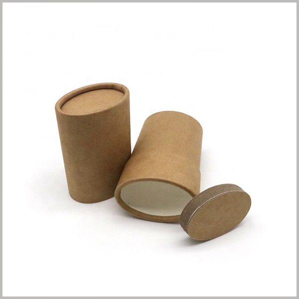 Recyclable kraft push up deodorant packaging. The bottom of the paper tube is thick and has high durability.