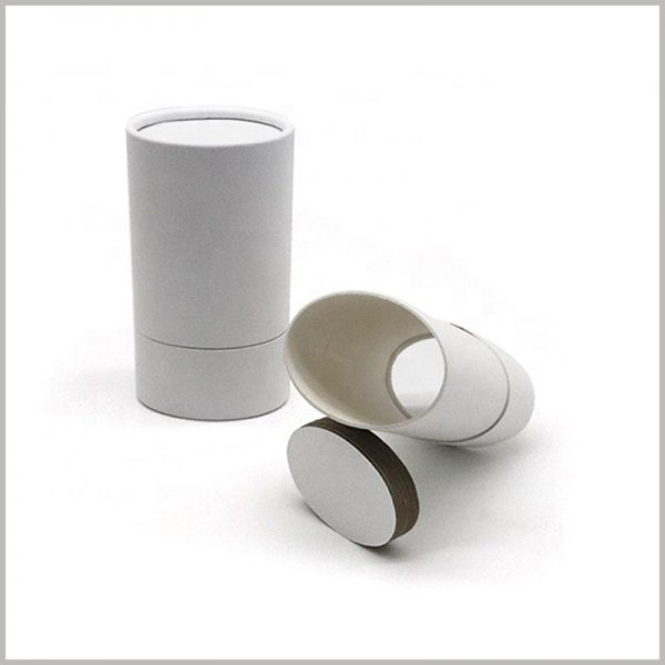 Recyclable white deodorant packaging. The structure of the deodorant packaging is oval, which is very rare, but it is of great significance for product promotion.