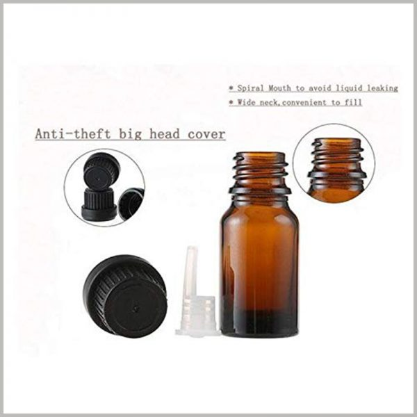 Small Essential Oil Bottles With Orifice and Cap