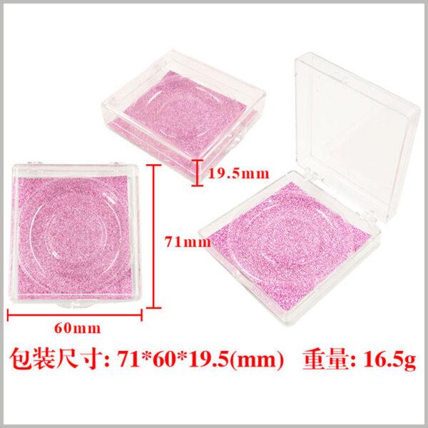Square plastic packaging for eyelashes