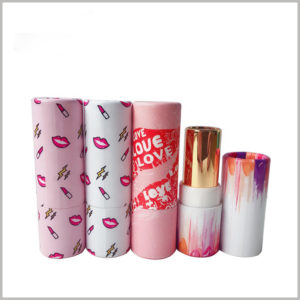 Stylish empty paper lipstick tube packaging boxes, Purchasing attractive packaging has advantages for the brand and will make lipstick boxes stand out from the competition in the market.