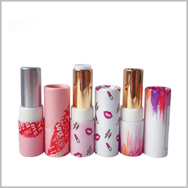 Stylish empty paper lipstick tube packaging wholesale. Lipstick packaging has rich colors, and reasonable color matching improves the overall visual experience of the packaging.