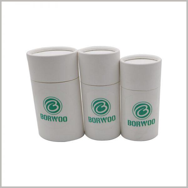White oval push tube packaging for deodorant