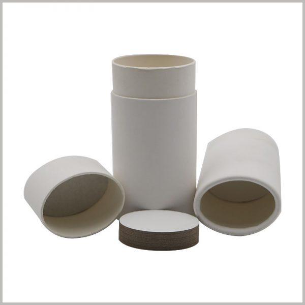 White push tube packaging for deodorant