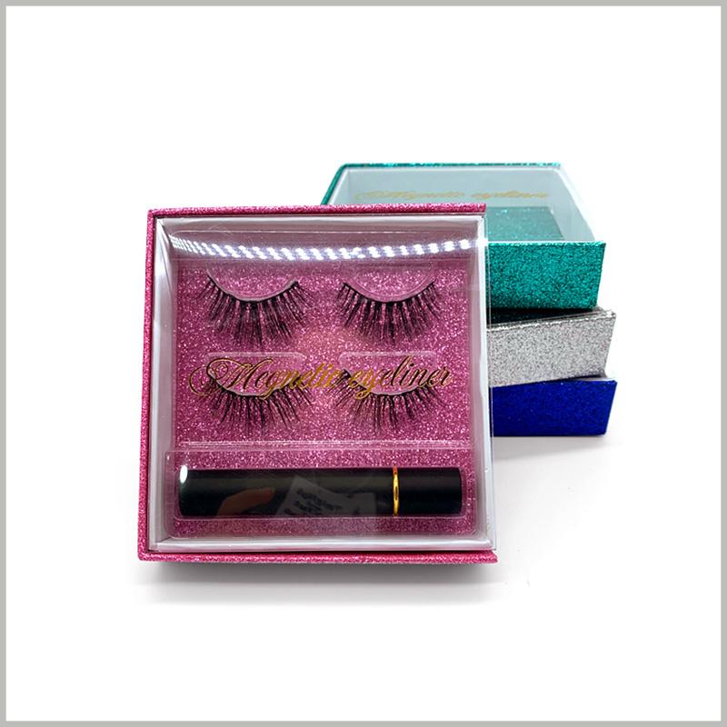 Windowed-eyelash-packaging-box-drawer-design-for-2-pairs