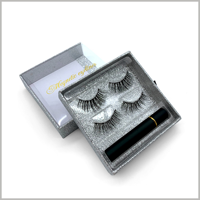Windowed-eyelash-packaging-boxes-square-drawer-design-for-2-pairs