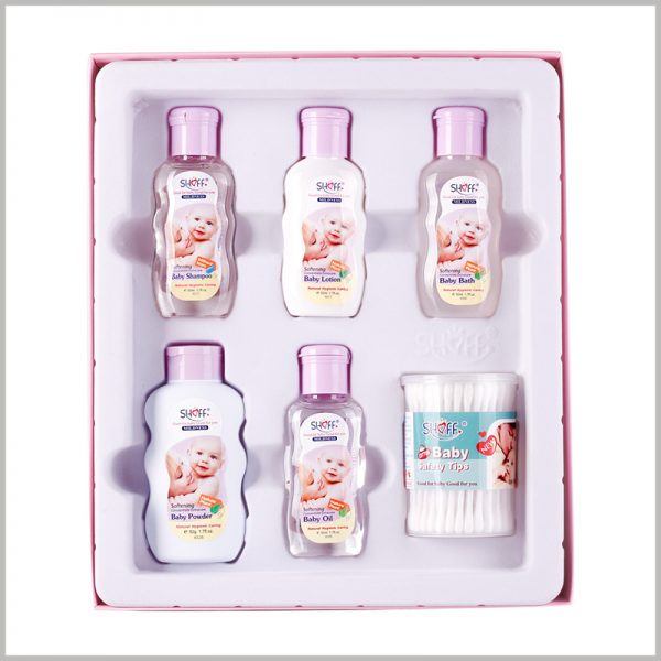baby care products packaging. Blister packaging has a specific shape, which can be used to fix different styles of baby care products